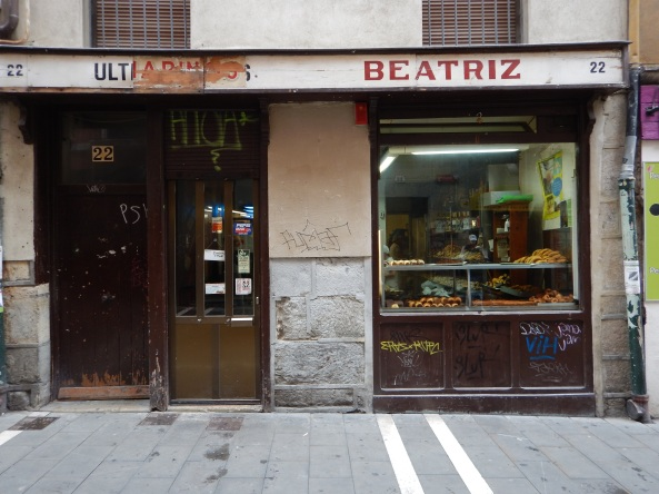 The dubious facade of Beatriz, one of the most famed bakeries in Spain.