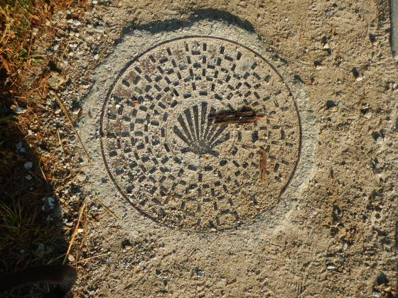 Sewer cover seen on The Camino de Santiago.