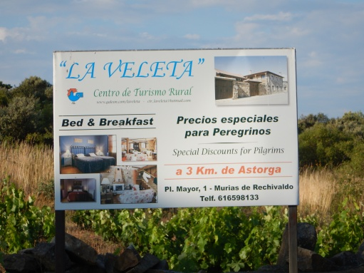 A casa rural that provides English translation on its sign is a good place for non-Spanish speakers to try lodging that is not an albergue.