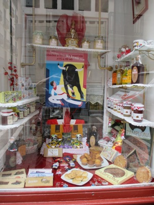 Shop window displaying locally made goods.